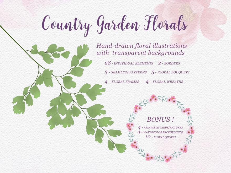 Country Garden Design Set