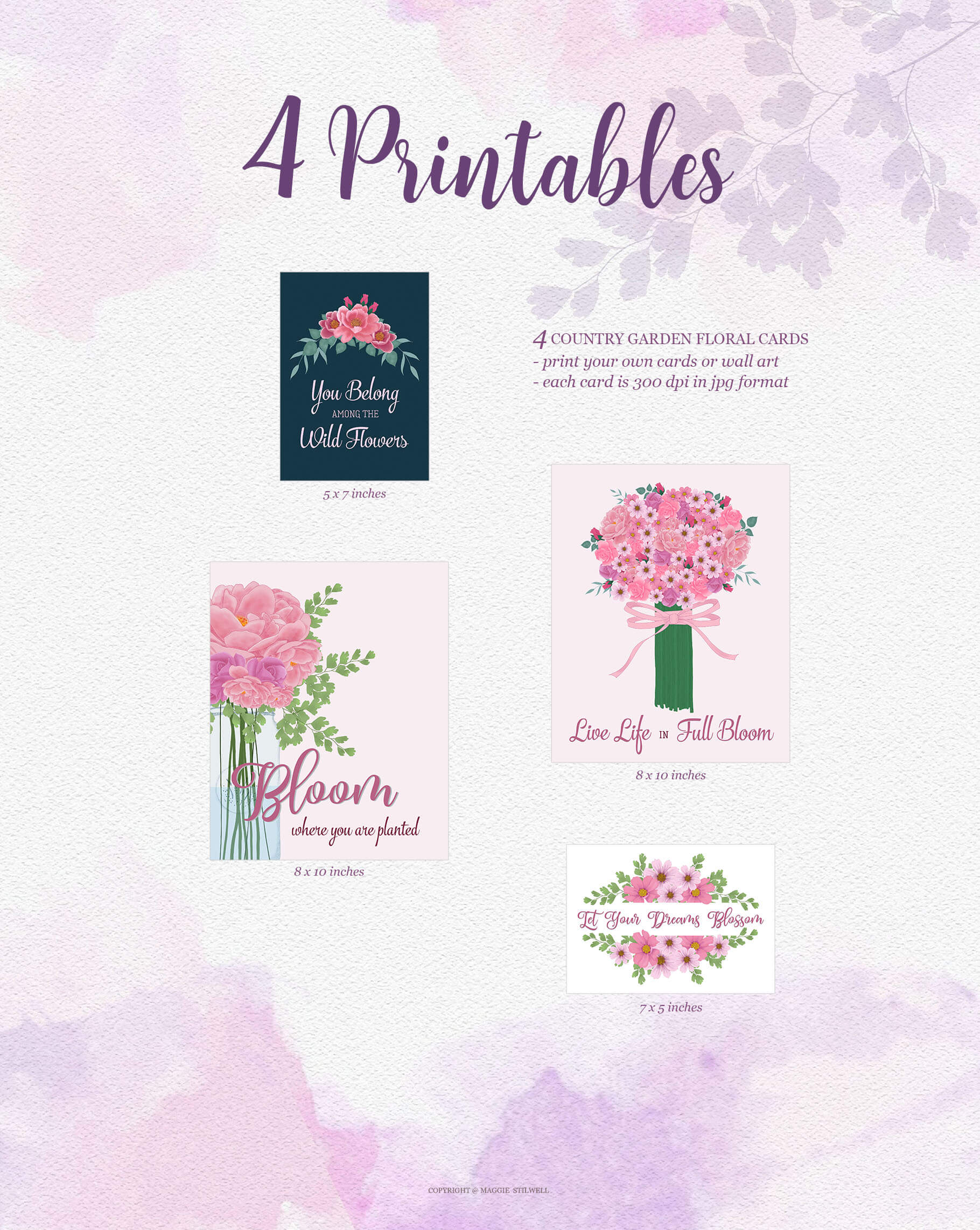 Country Garden Printables