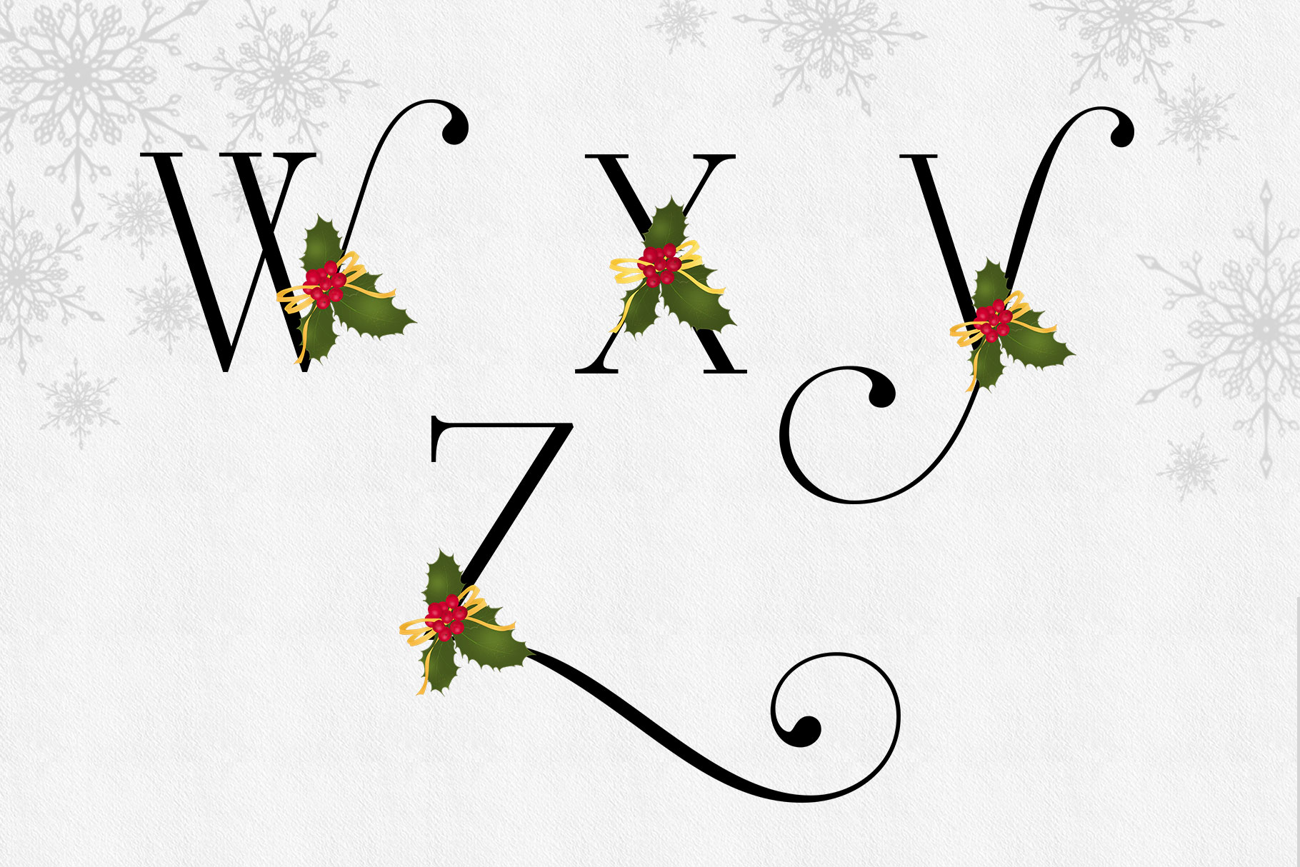 Holiday Alphabet Letters