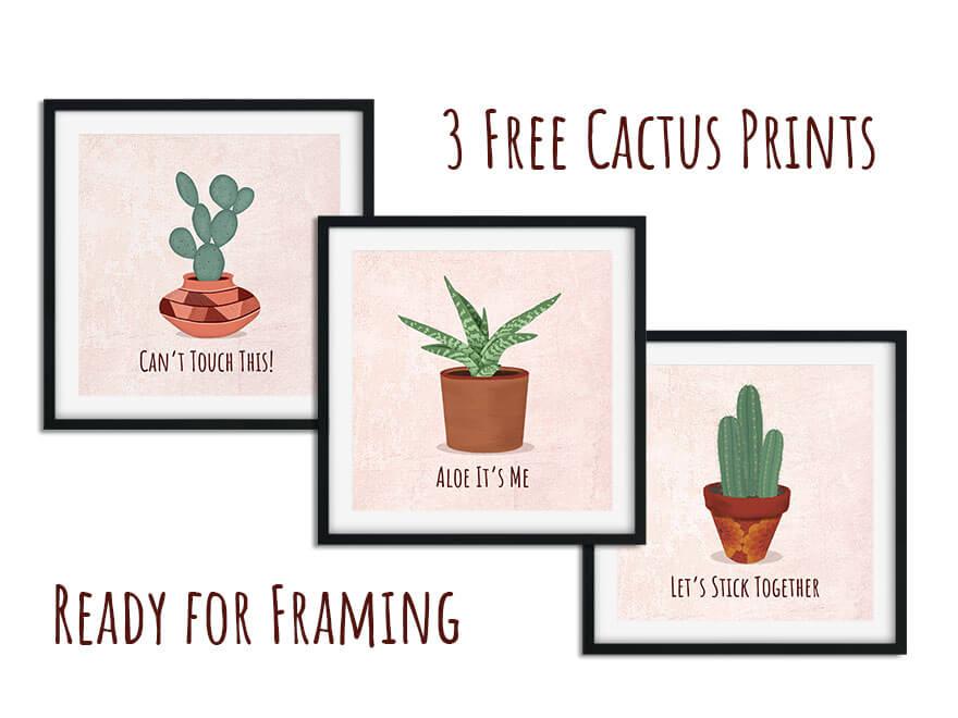 Free Cactus Wall Art