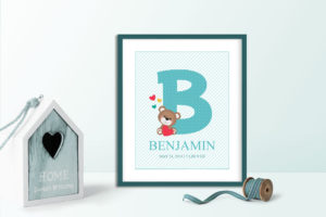 Baby Boy Monogram Wall Art