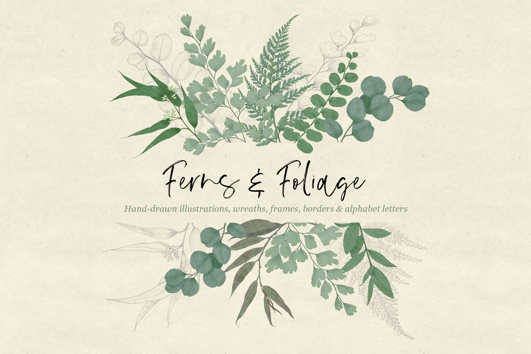 Ferns & Foliage Design Set