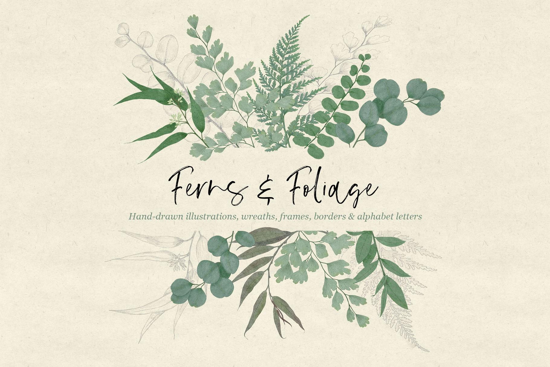 Ferns & Foliage Design Set