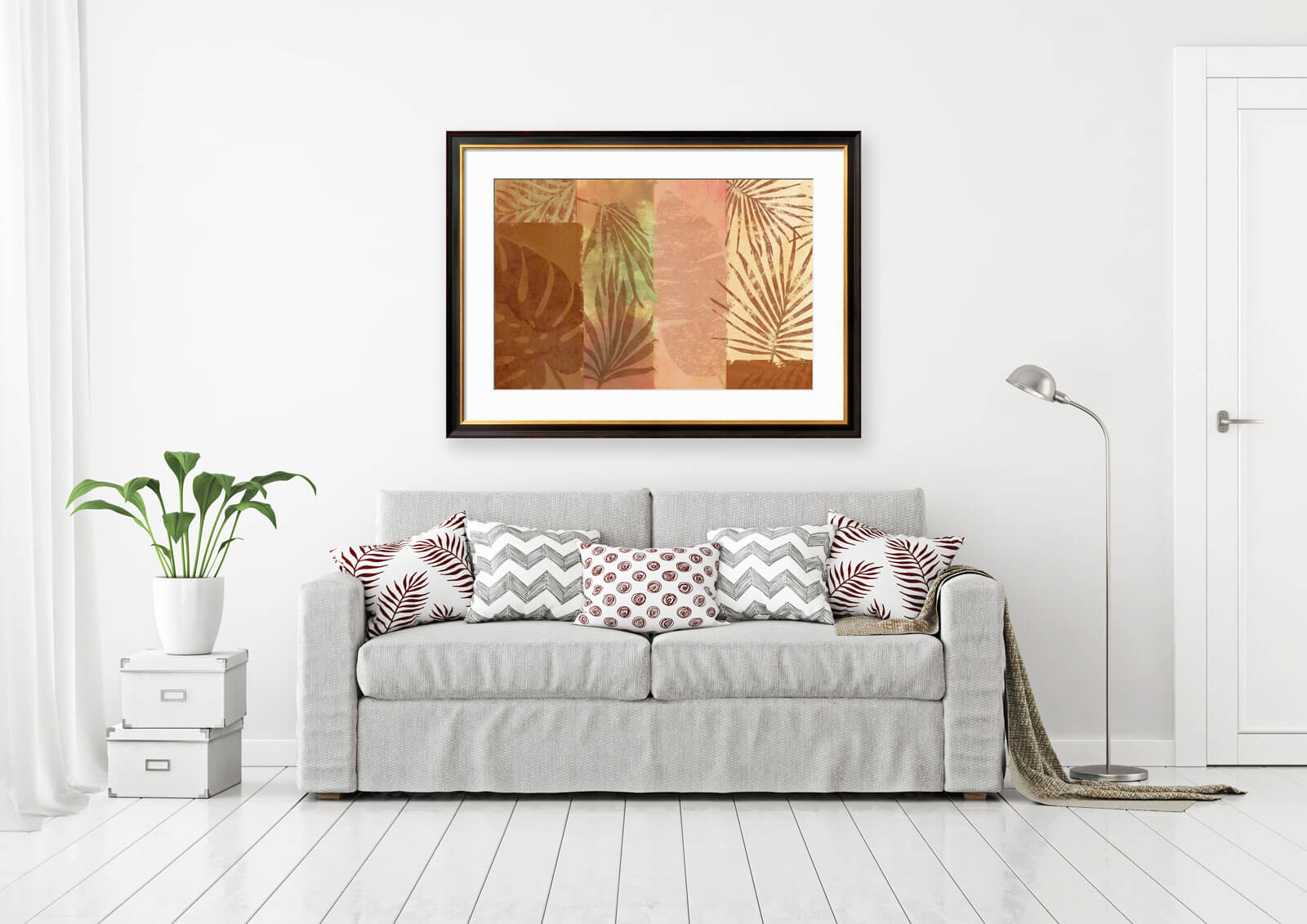 Tropical Leaves Collage Wall Art Maggie Stilwell Design Shop for tropical leaf wall decor online at target. tropical leaves collage wall art