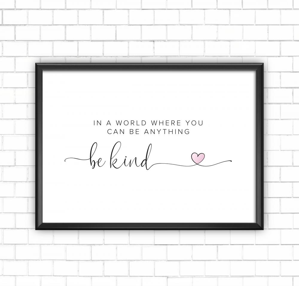 Be Kind Wall Art