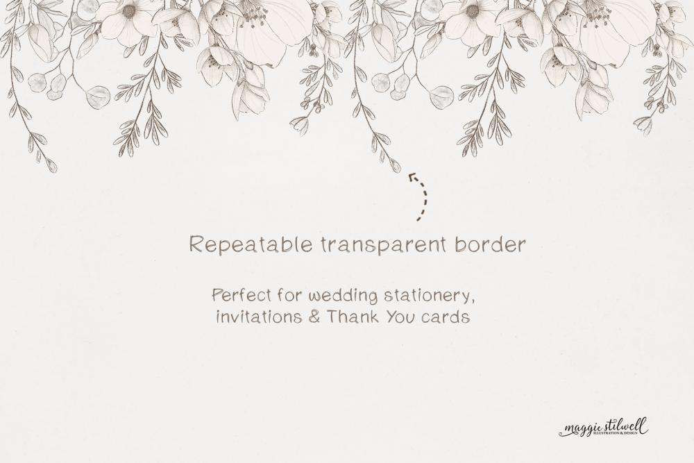Sketchy Floral Border