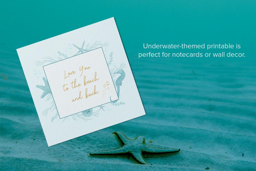 Underwater Illustration Printable