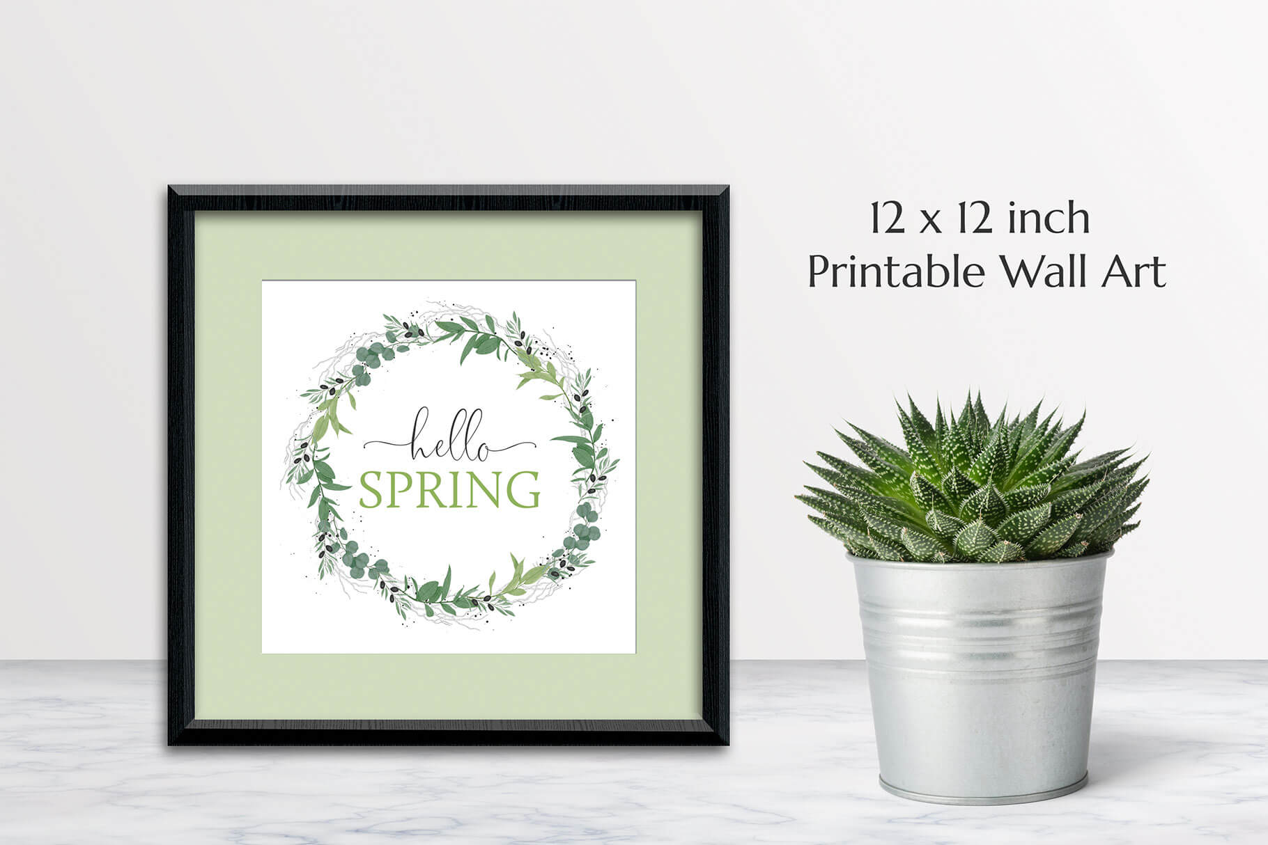 Hello Spring Printable Wall Art