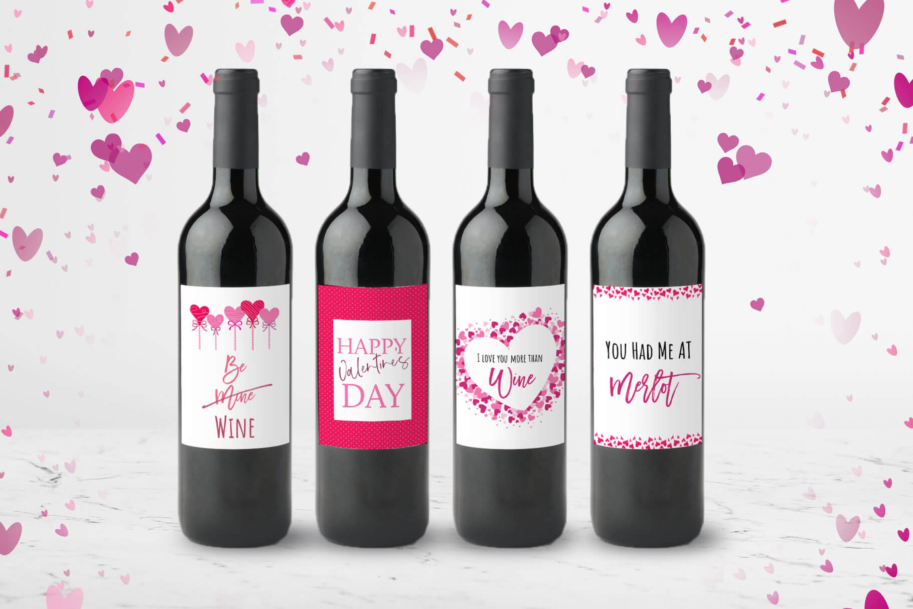 Valentine Wine Labels Printable