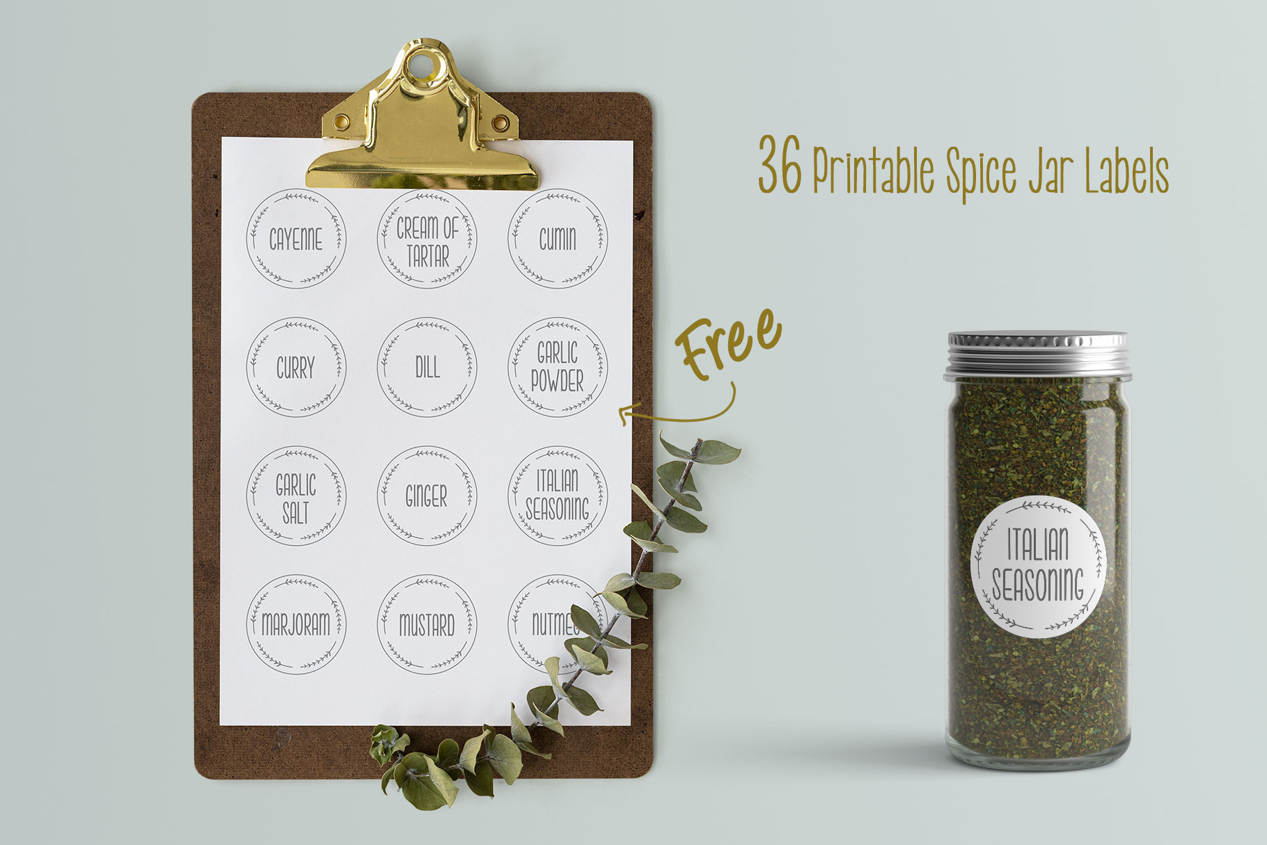 Printable Spice Jar Labels