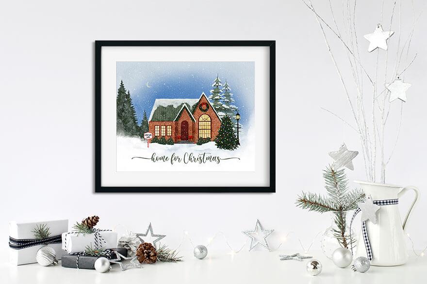 """""""Home for Christmas"""" printable"""