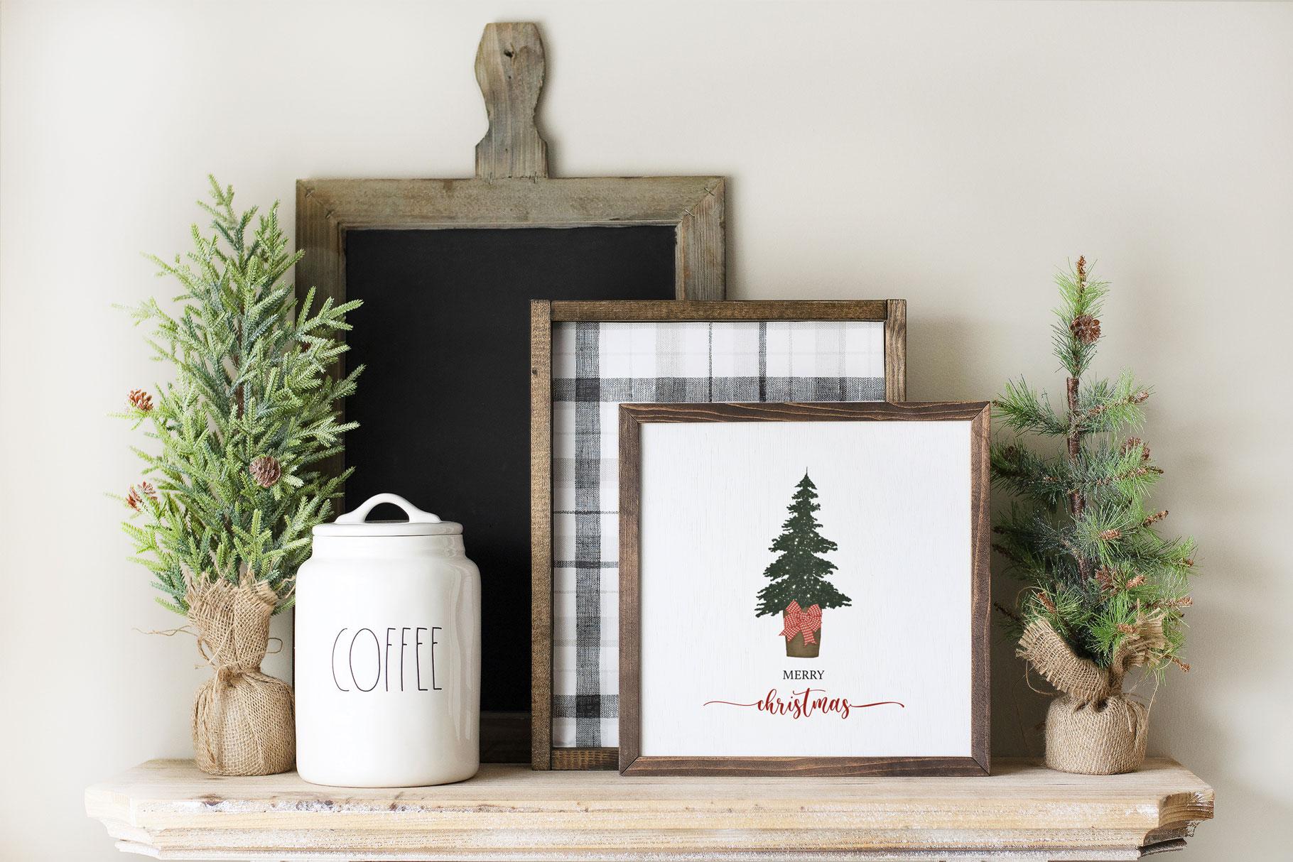 """""""Merry Christmas"""" Tree Printable"""